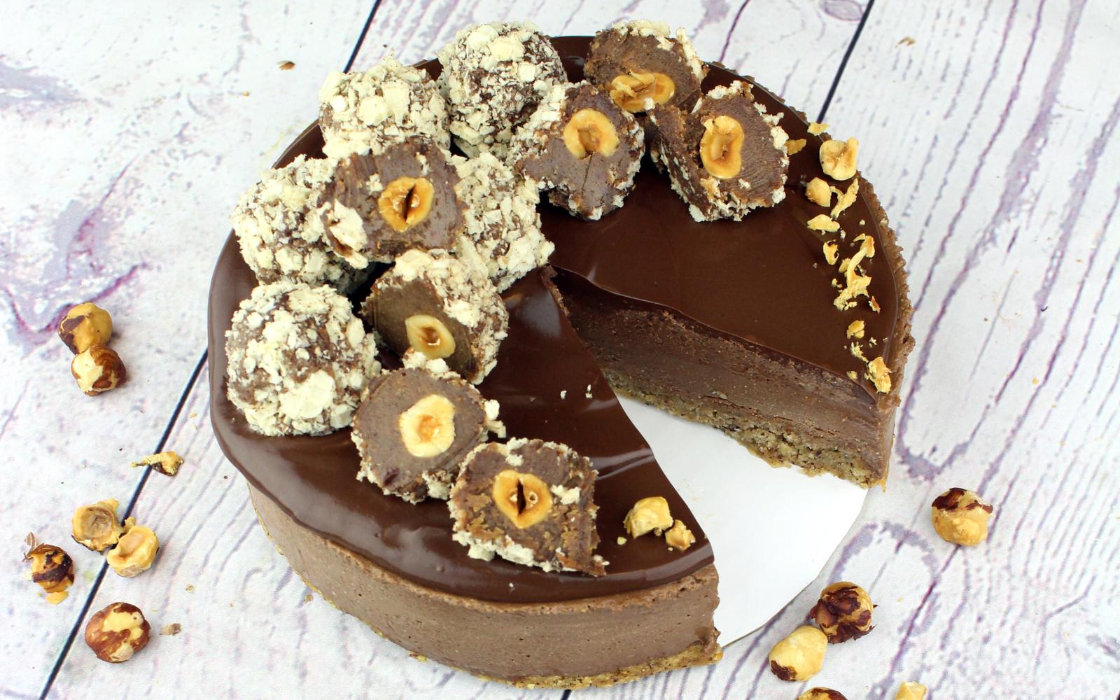 Vegan Ferrero Rocher Mousse Cake