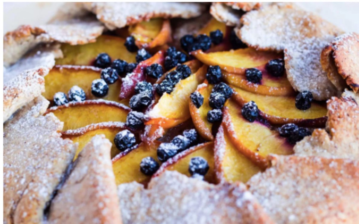 Vegan Peach and Blueberry Galette