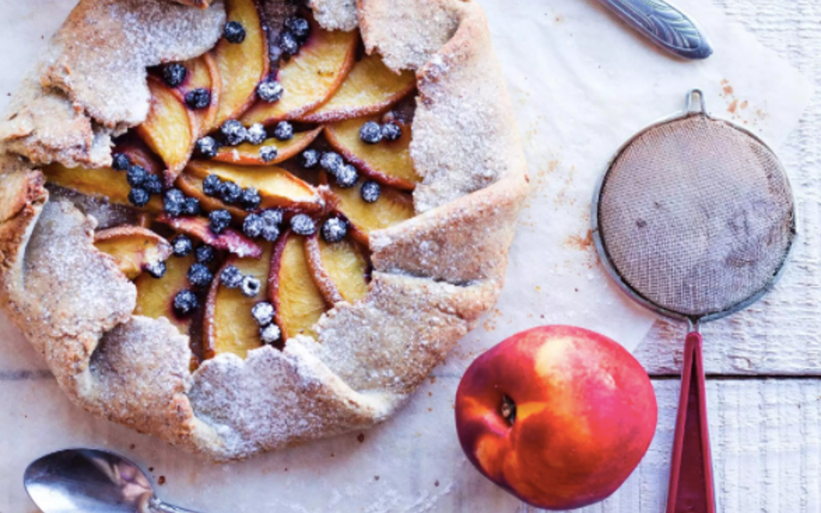 Peach and Blueberry Galette [Vegan]