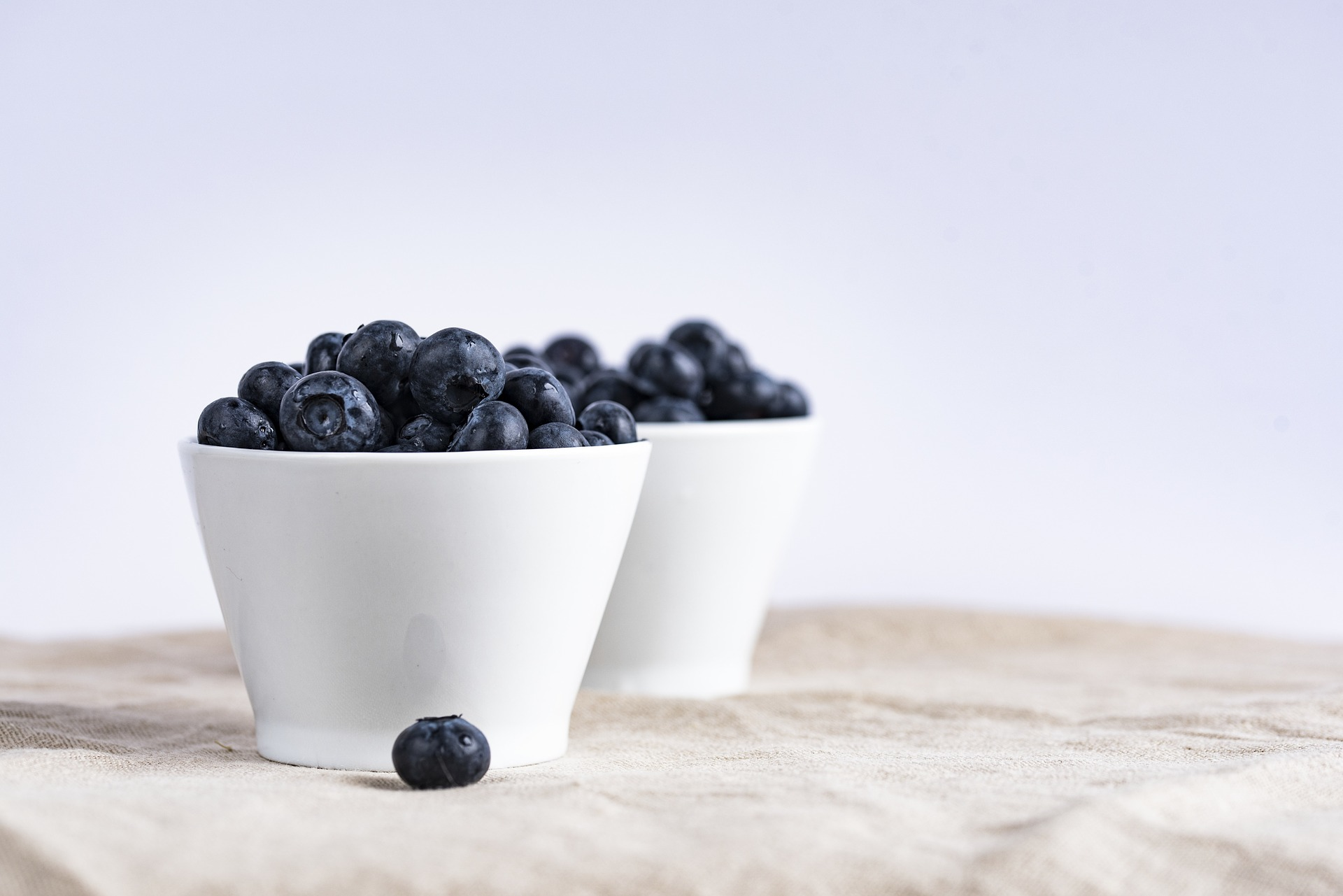 Blueberries in cups