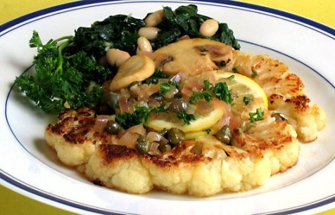 Vegan Cauliflower Picatta