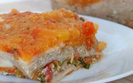 Vegan Grain-Free Celeriac Lasagna With Acorn Squash Marinara
