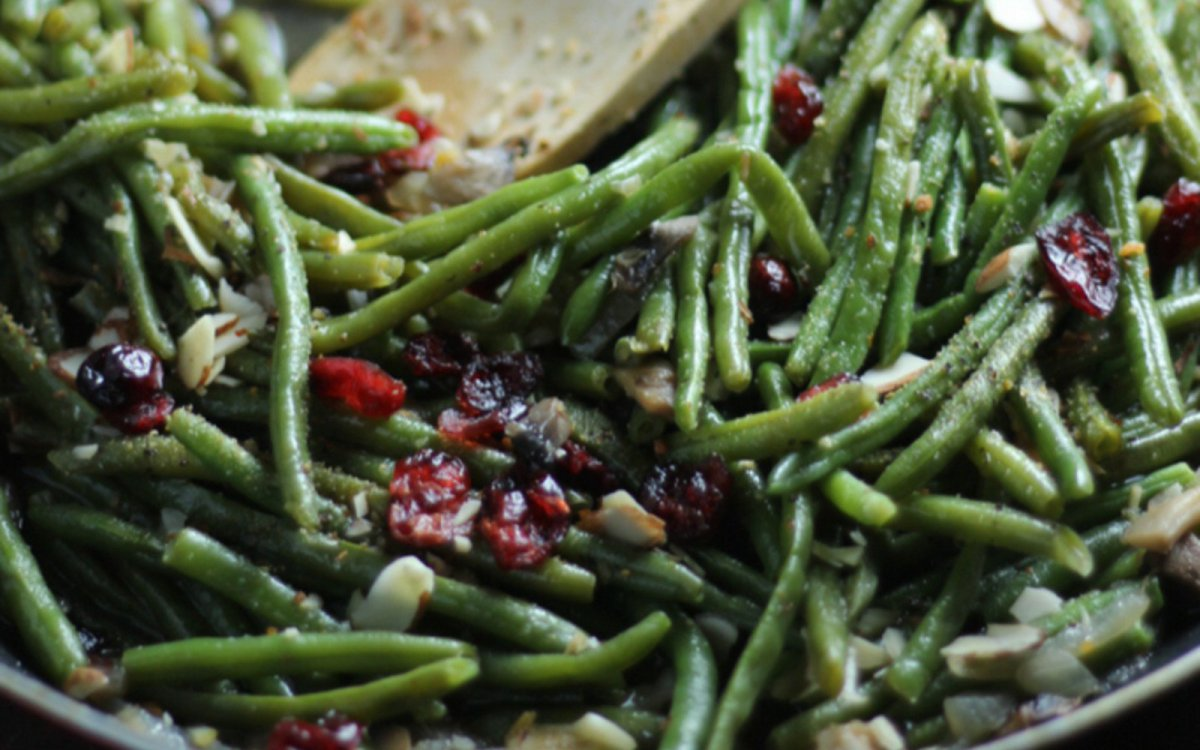 Vegan Grain-Free Cranberry Almond Green Beans