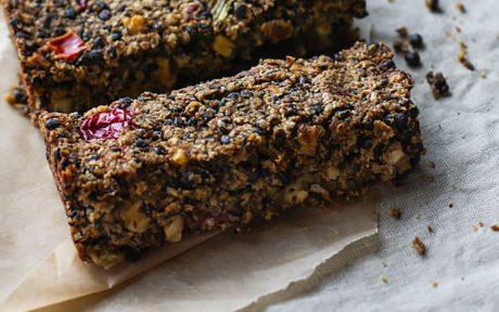 Vegan Gluten-Free Cranberry Lentil Loaf With Maple Glaze