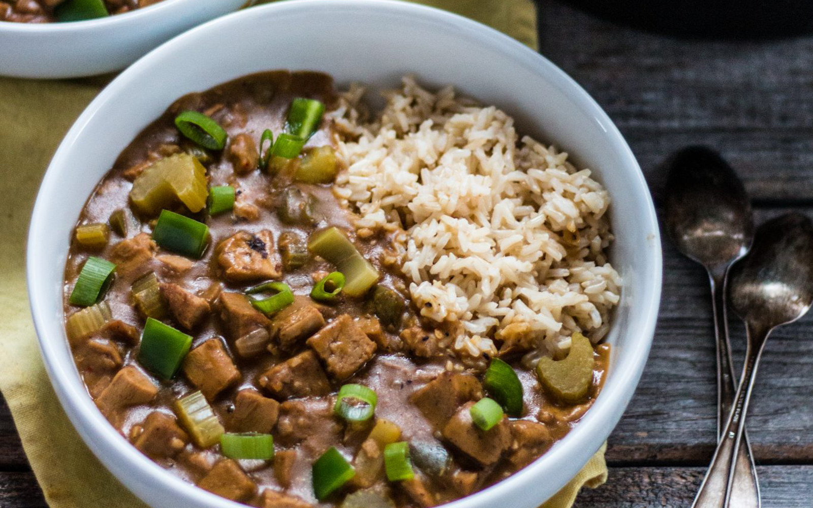 Vegan Spicy Gumbo Over Rice