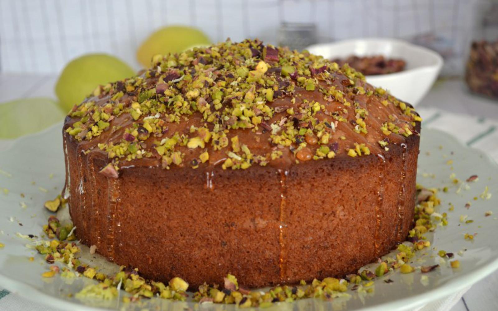 Vegan Lemon Pistachio Cake