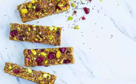 Vegan Cranberry and Pistachio Energy Bars