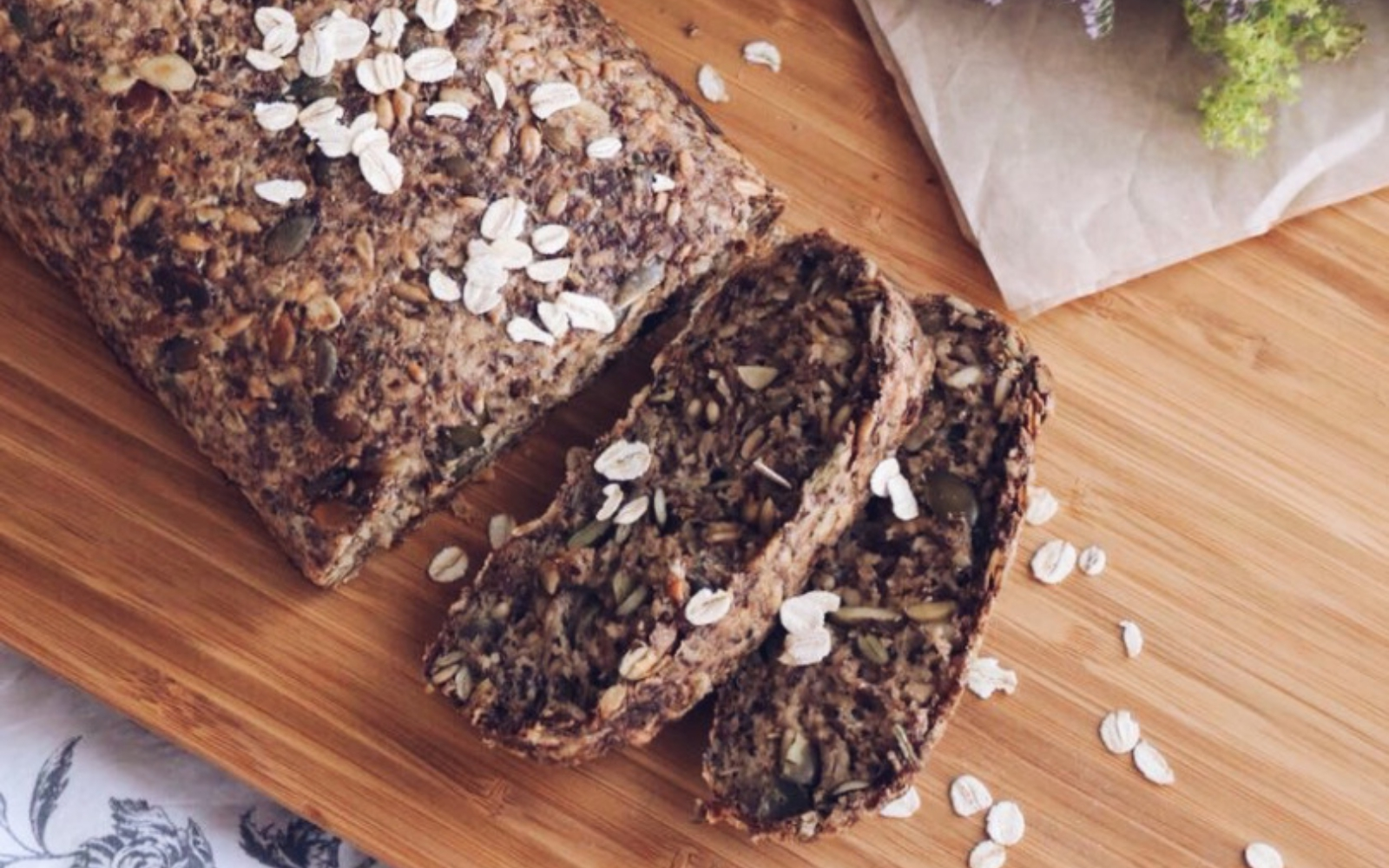 Vegan Oat and Seed Bread
