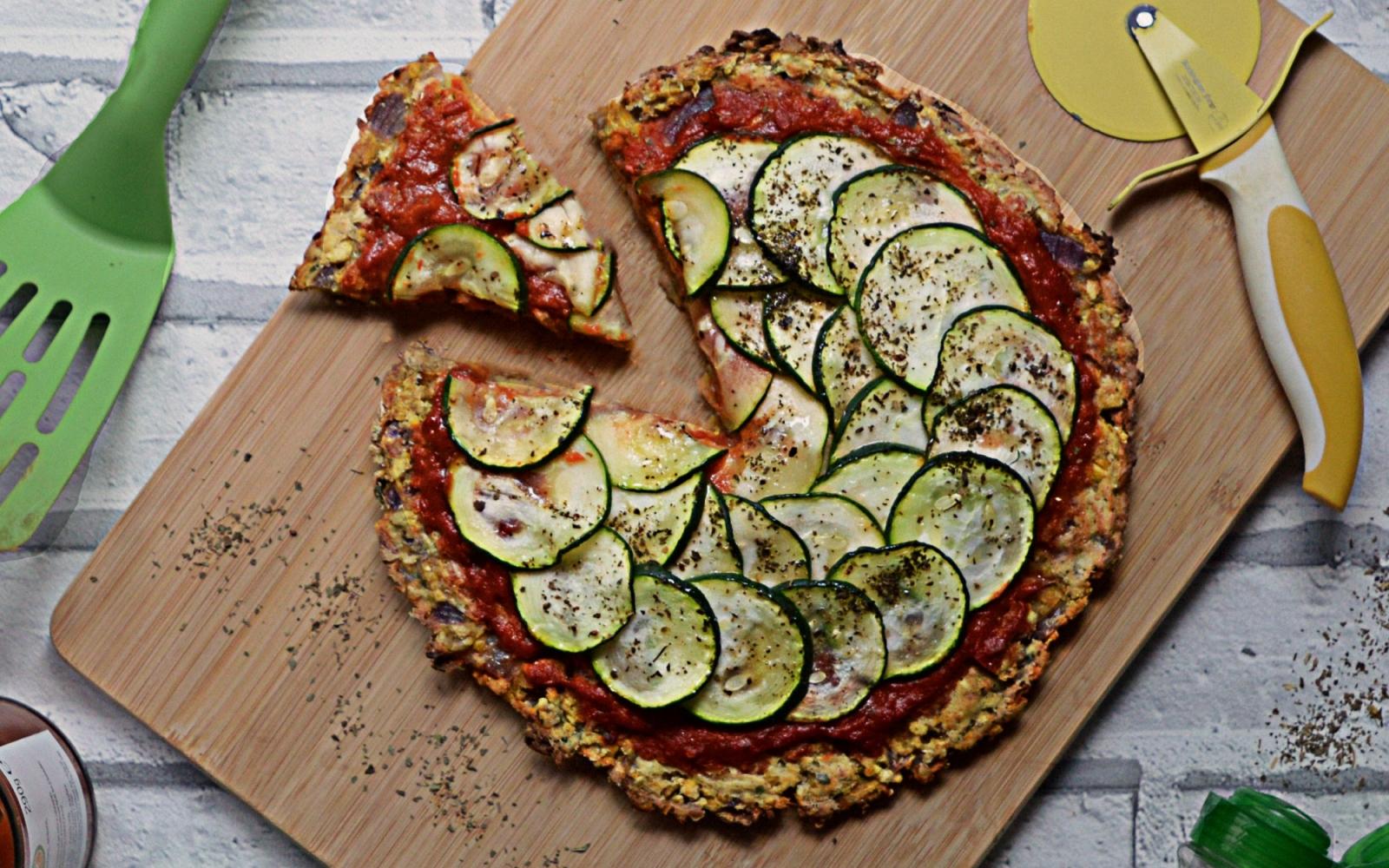 vegan falafel pizza