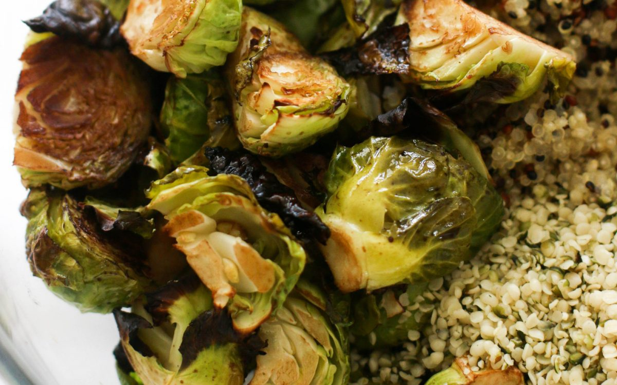 Rosemary Brussels Sprout Quinoa Salad