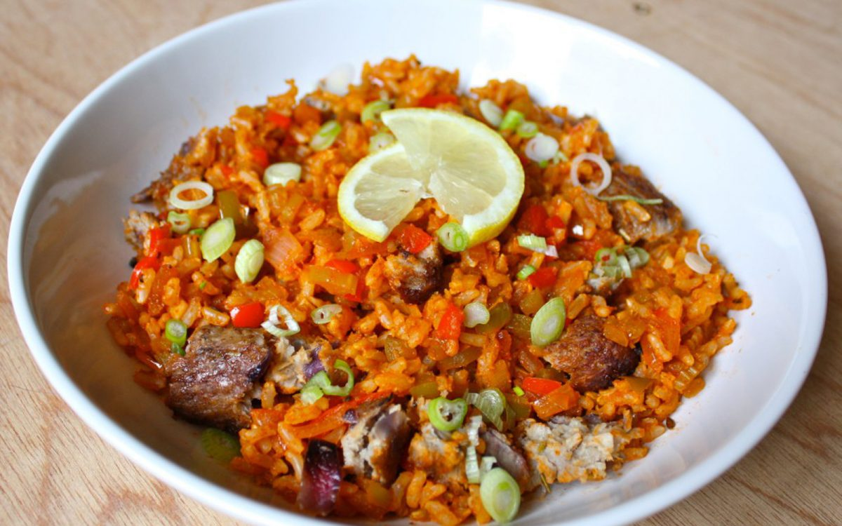 Vegan Brown Rice Jambalaya healthy grains