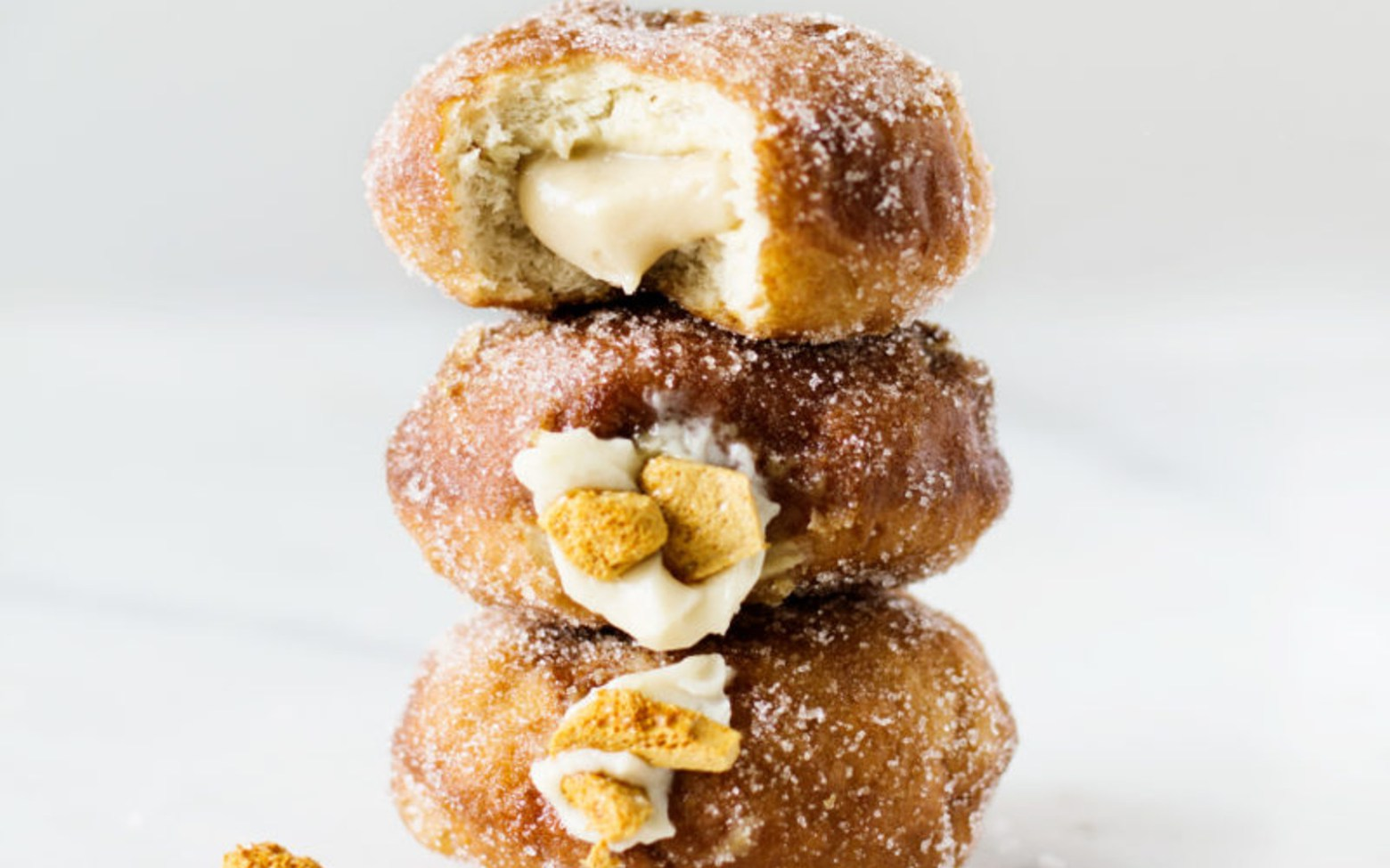 Vegan Honeycomb Doughnuts With Filling
