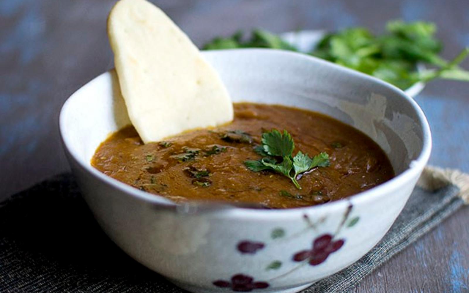 vegan moroccan red lentil soup