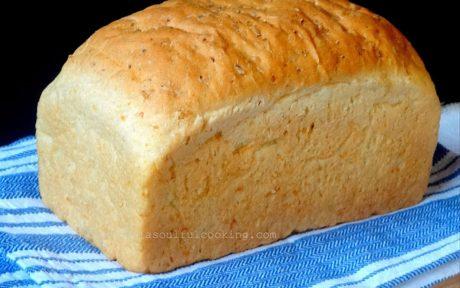 Whole Loaf of Vegan Leftover Rice Bread