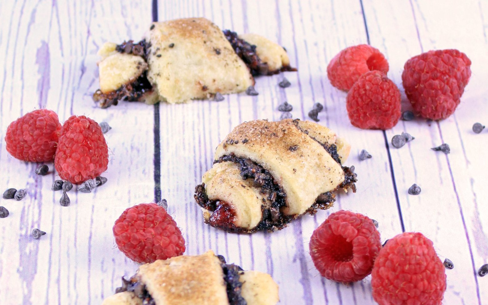 Vegan Chocolate Raspberry Rugelach