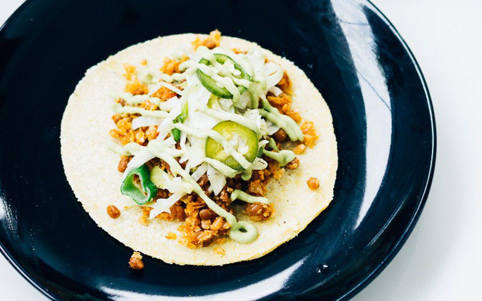 Vegan Spicy Cauliflower Lentil Tacos