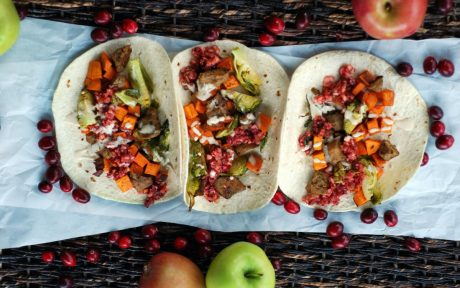 Vegan Gluten-Free Thanksgiving Leftovers Tacos With Cranberry Salsa