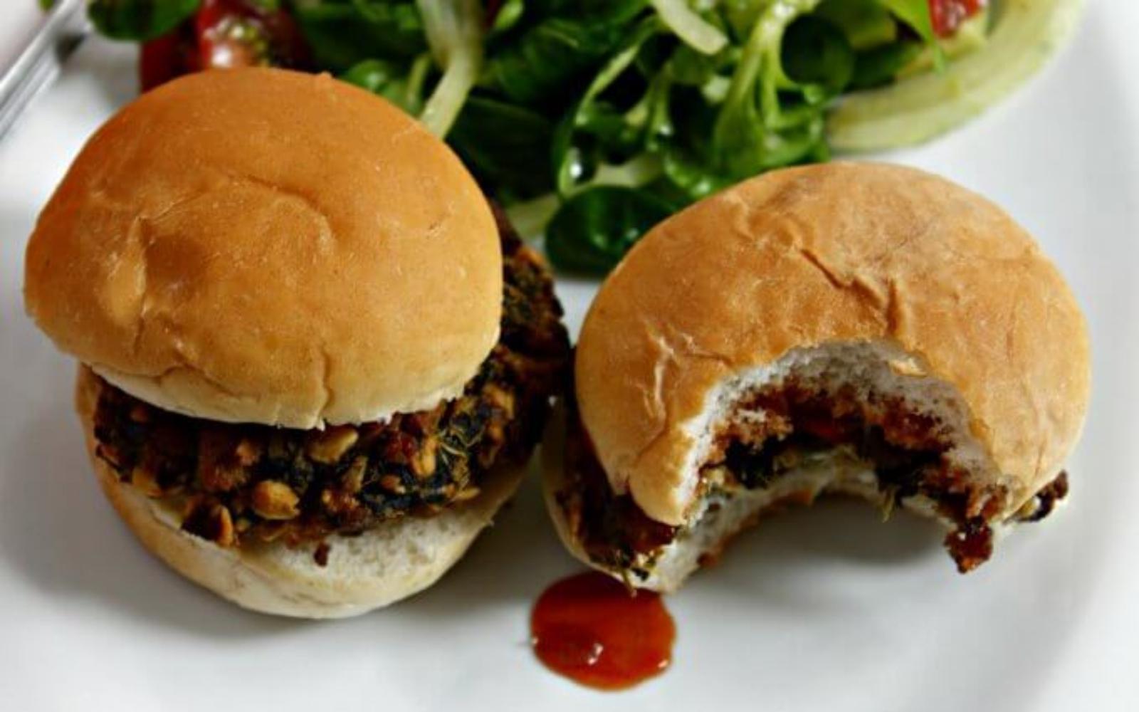 vegan spinach tofu burgers
