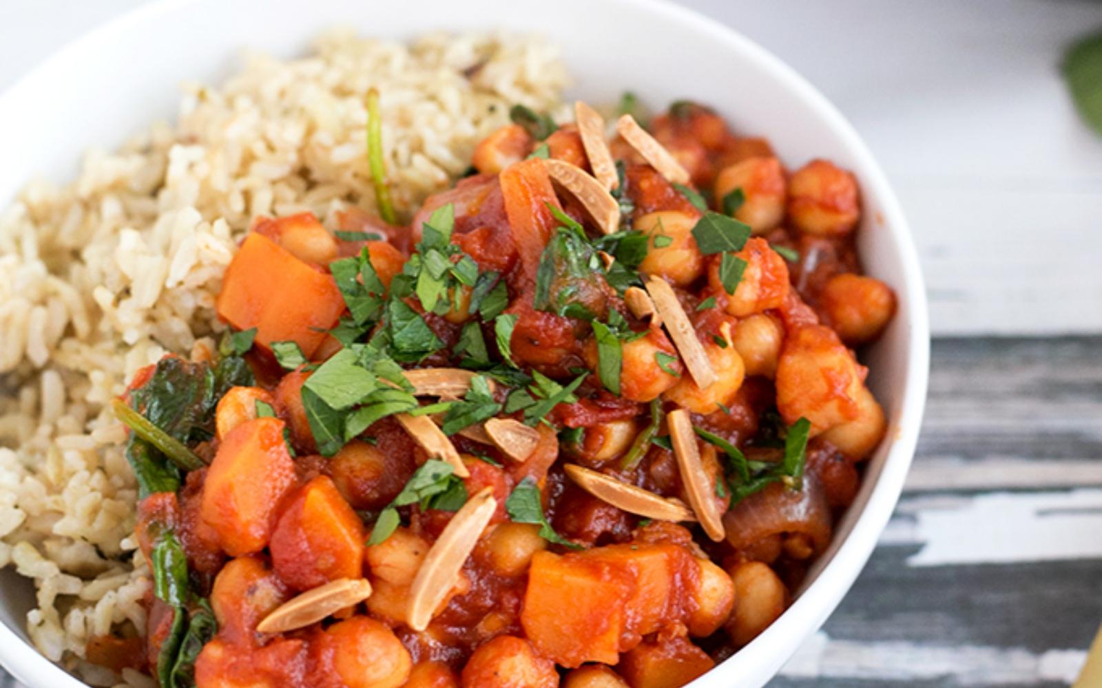 vegan spanish chickpea and sweet potato stew