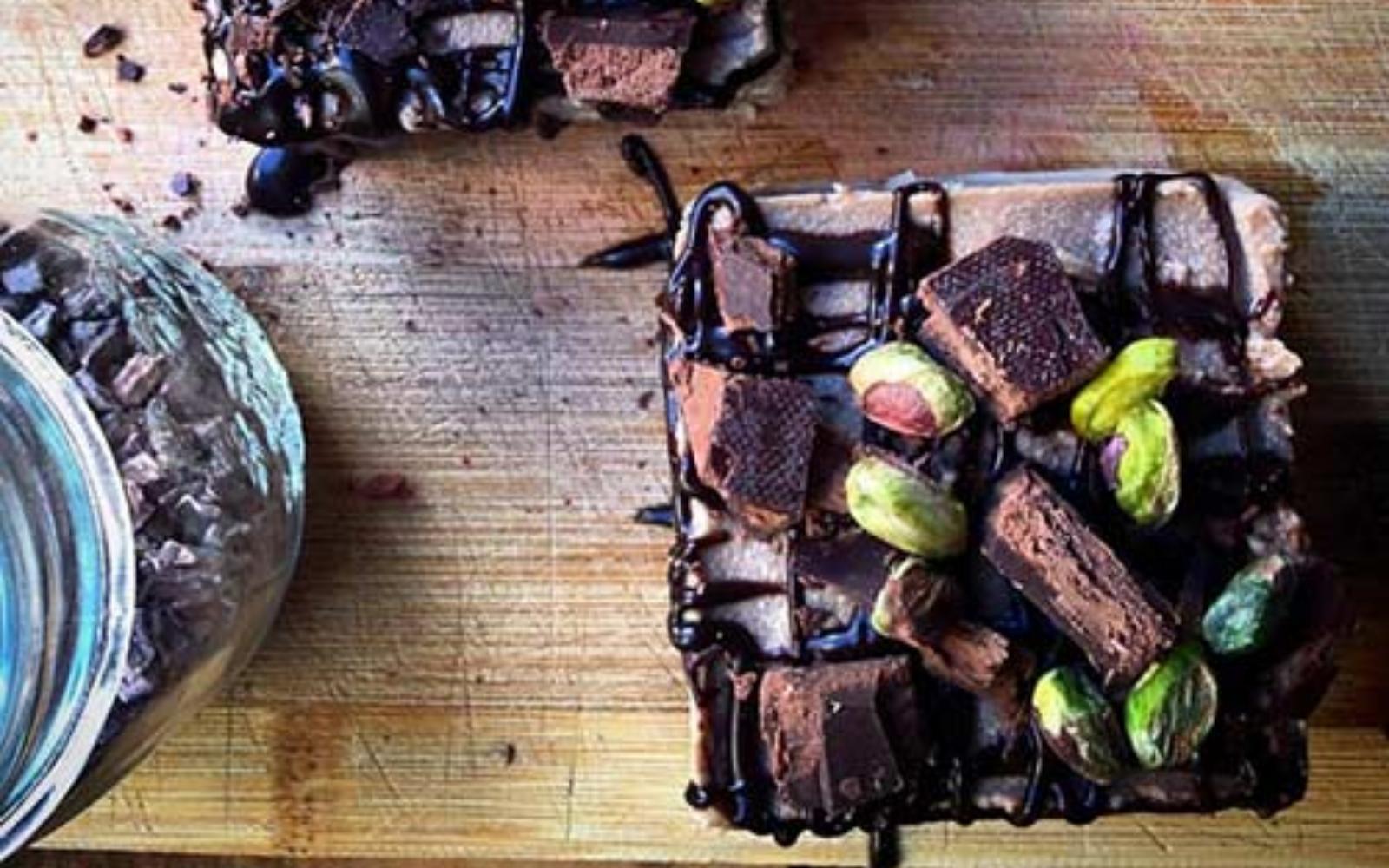 Vegan Chocolate cauliflower cake