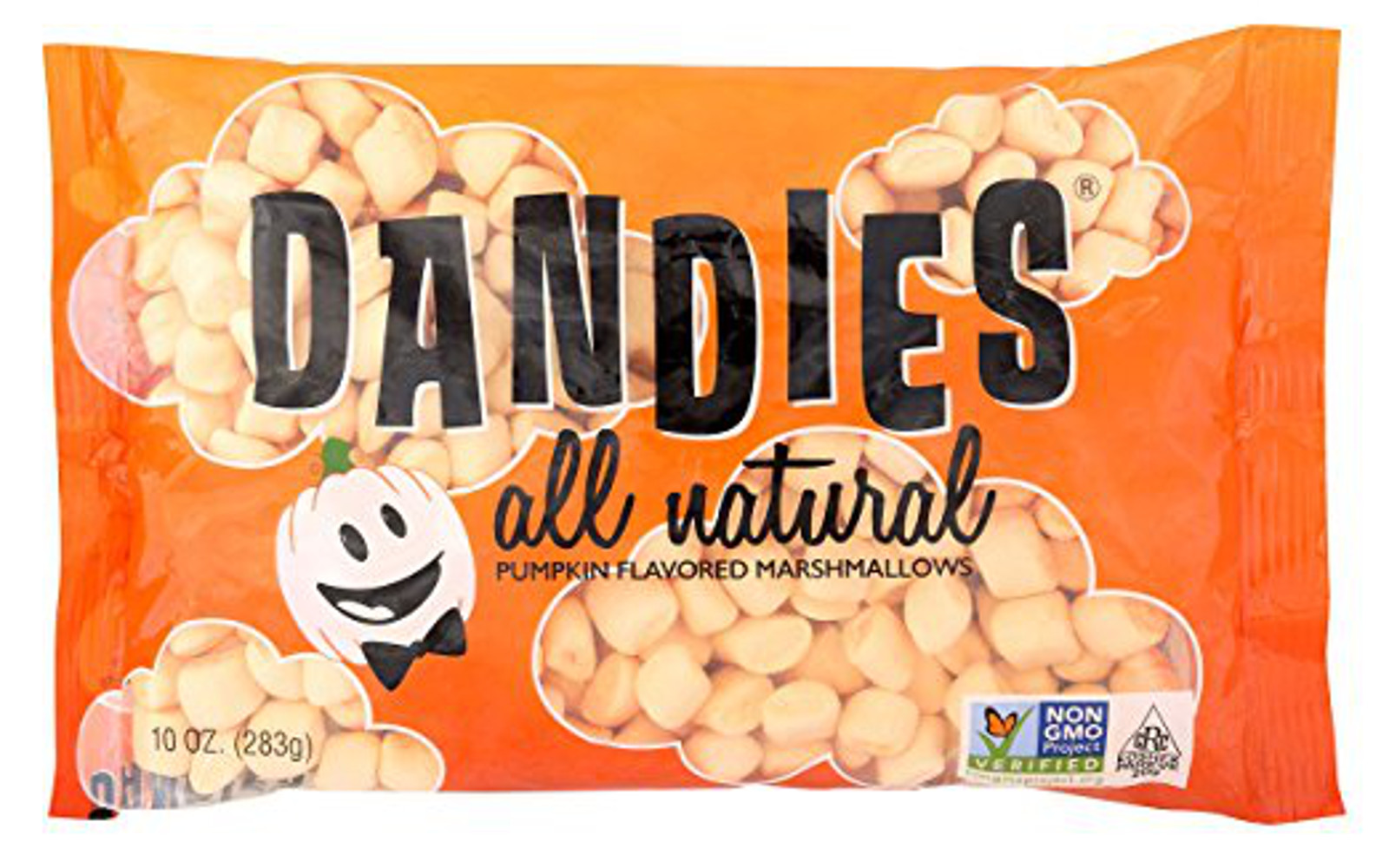 Dandies - Vegan Marshmallows - Pumpkin, 10 oz. Bag