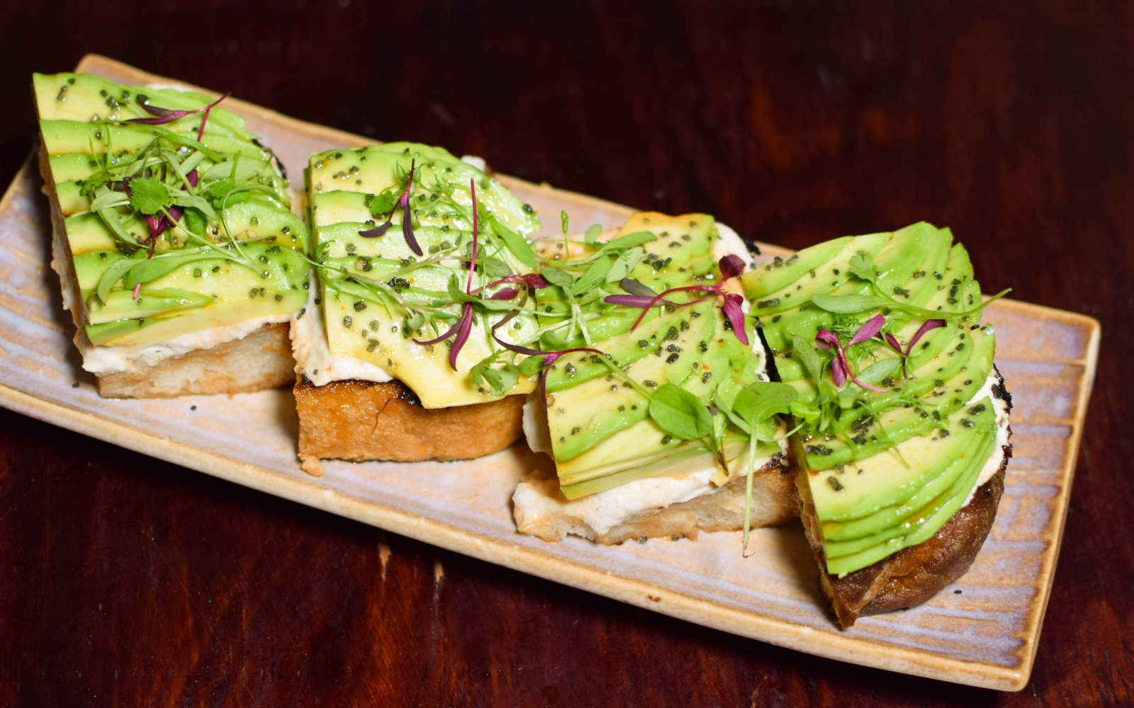 Vegan Mother of Pearl Restaurant's Avocado and Ricotta Toast
