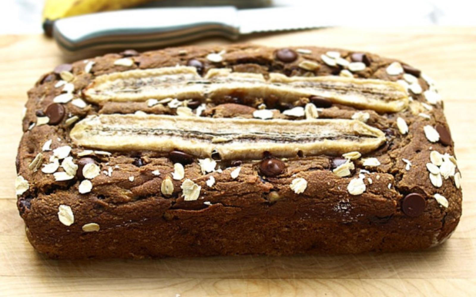 healthy vegan oil free dairy free refined sugar free gluten free banana bread