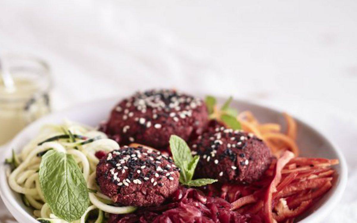 https://www.onegreenplanet.org/vegan-recipe/beetroot-falafel-rainbow-salad/