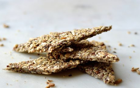 Spelt, Oats, Chia and Flax Seed crackers
