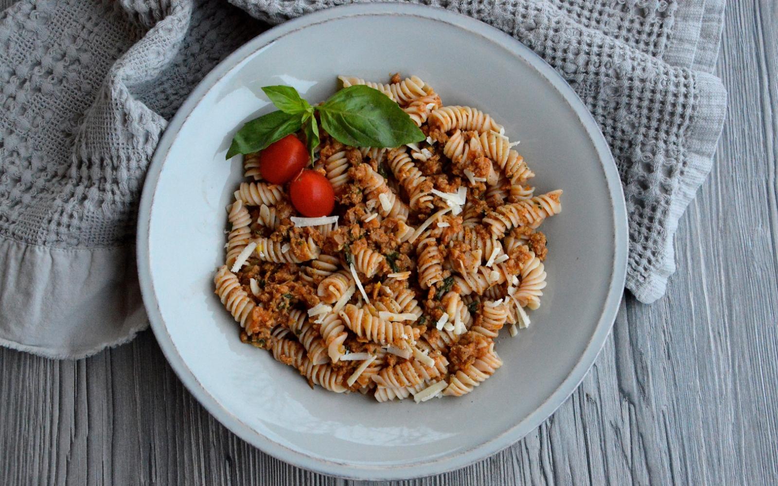 Vegan Beefless Bolognese Sauce
