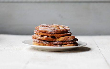 Vegan 6-Ingredient Fabulous Fried Sweet Bread topped with sugar