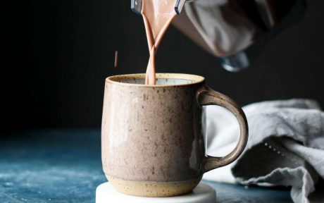 Vegan Healthy Peanut Butter Hot Chocolate
