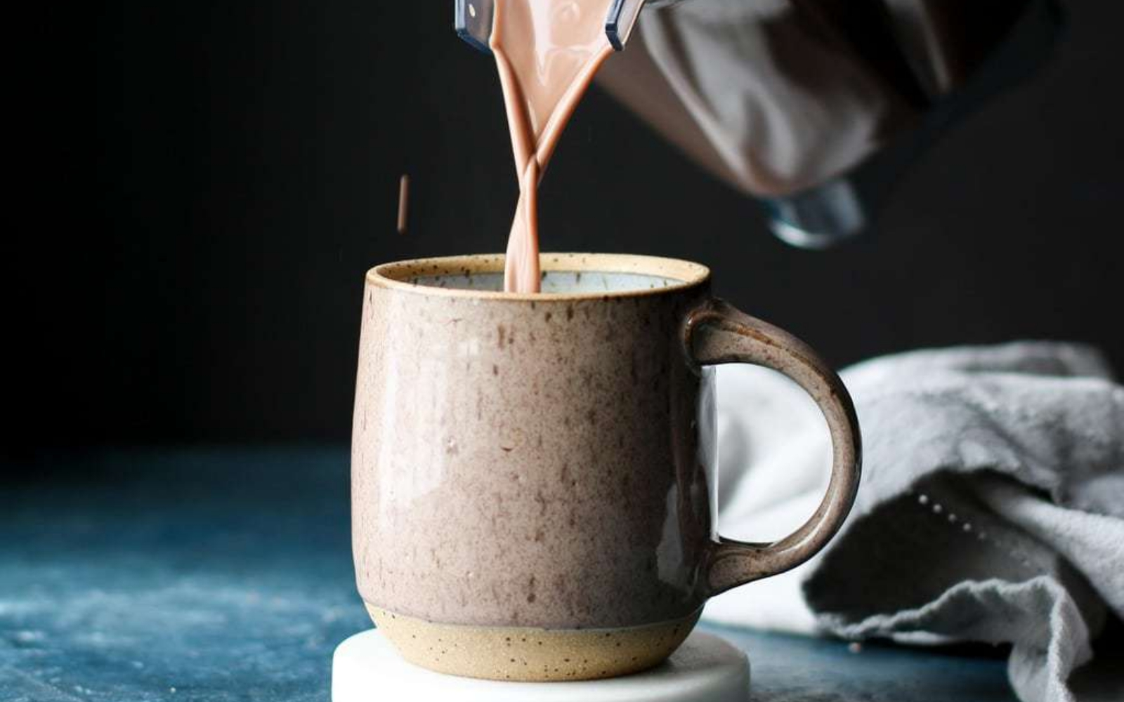 Vegan Healthy Peanut Butter Hot Chocolate