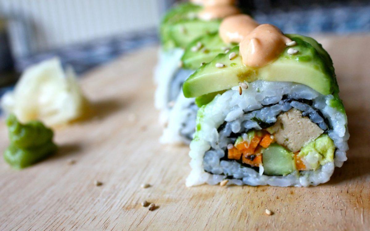 Vegan Veggie Dragon Roll