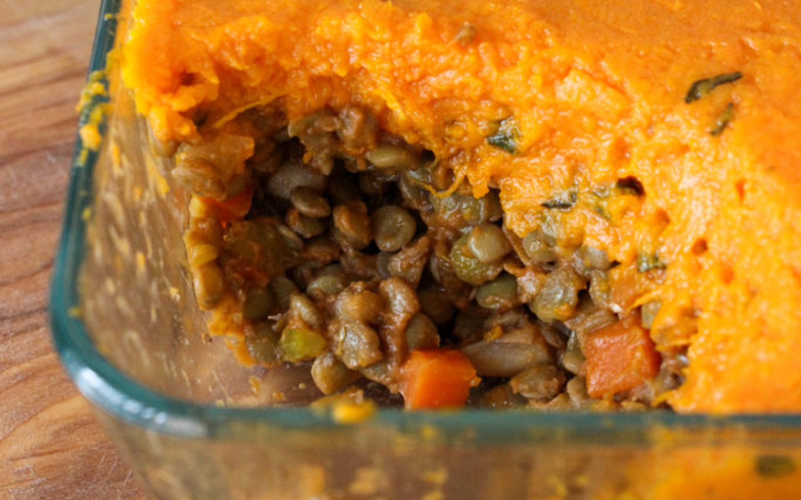 Vegan Gluten-Free Sweet Potato and Sage Lentil Shepherds Pie