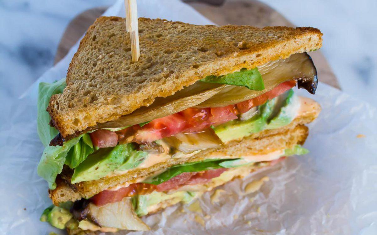 Mushroom Sandwich With Spicy Aioli
