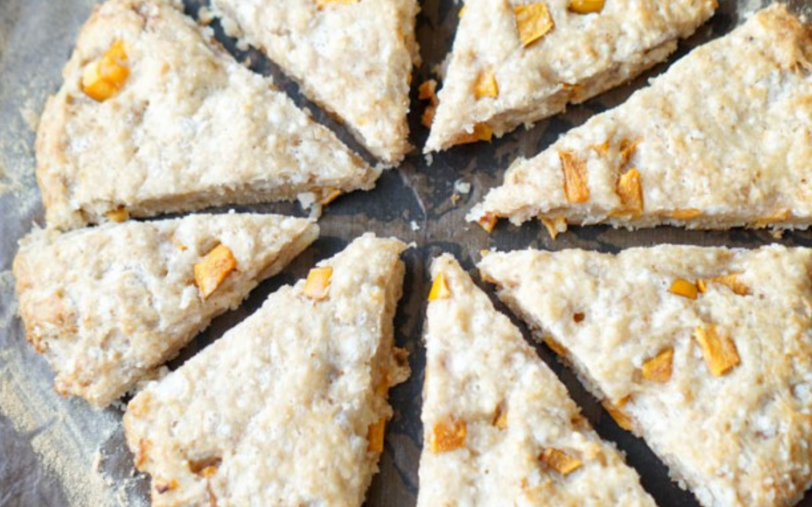 vegan Cardamom Persimmon Scones with Maple-Persimmon Cream