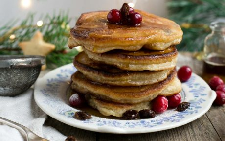 Vegan Rum Raisin Pancakes