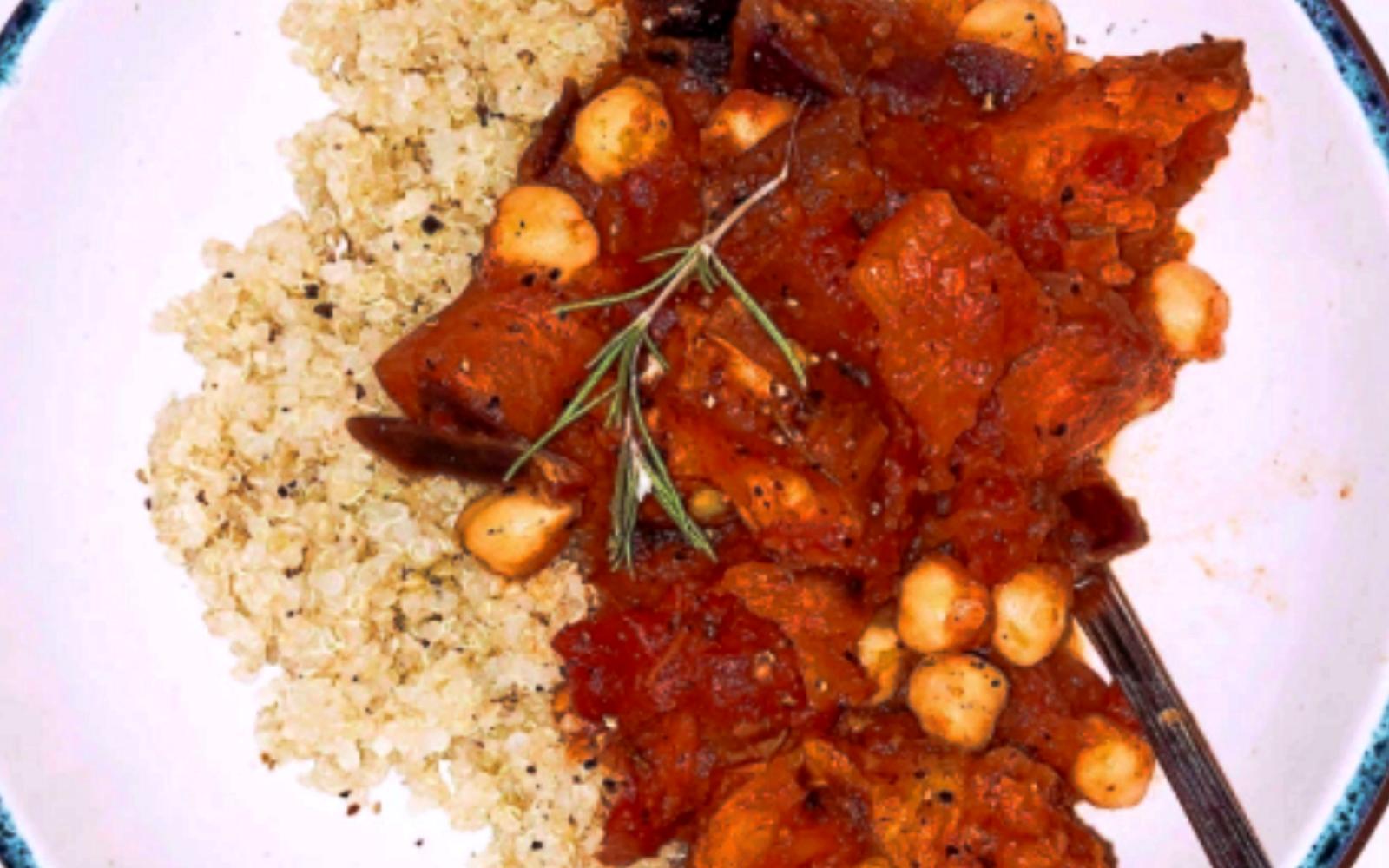 Vegan Pumpkin, Sweet Potato, and Carrot Stew With Quinoa