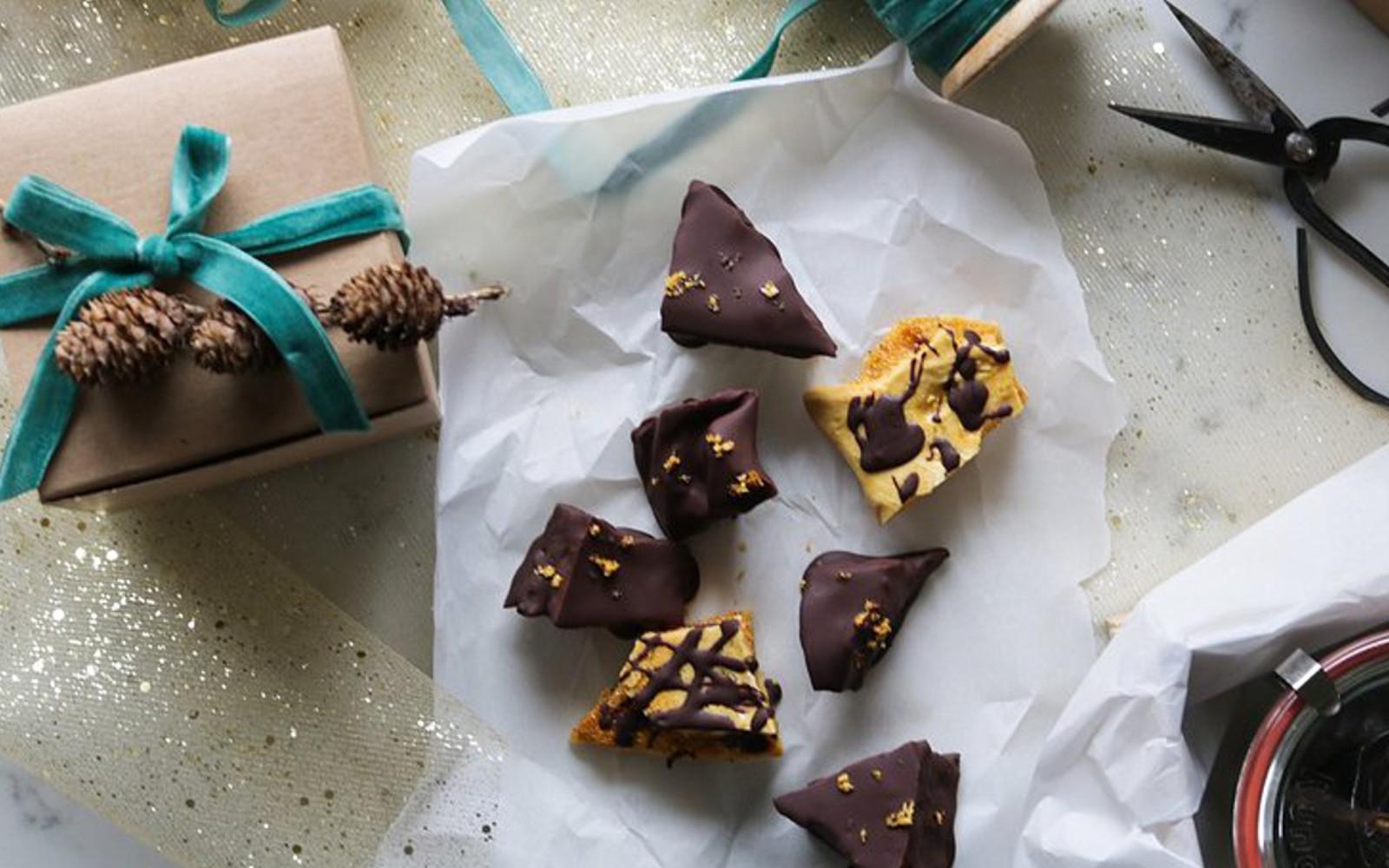 Vegan Gluten-Free Homemade Sponge Toffee with chocolate coating