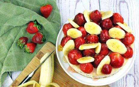 Vegan Strawberry Banana Cheesecake