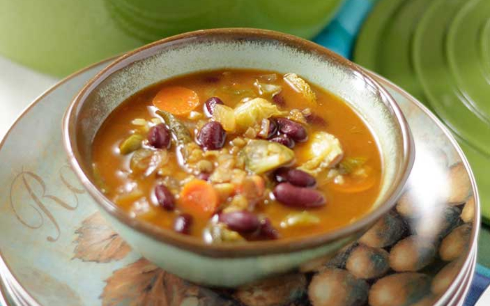 Vegan Guten-Free Tomato, Carrot, Brussels Sprouts Soup