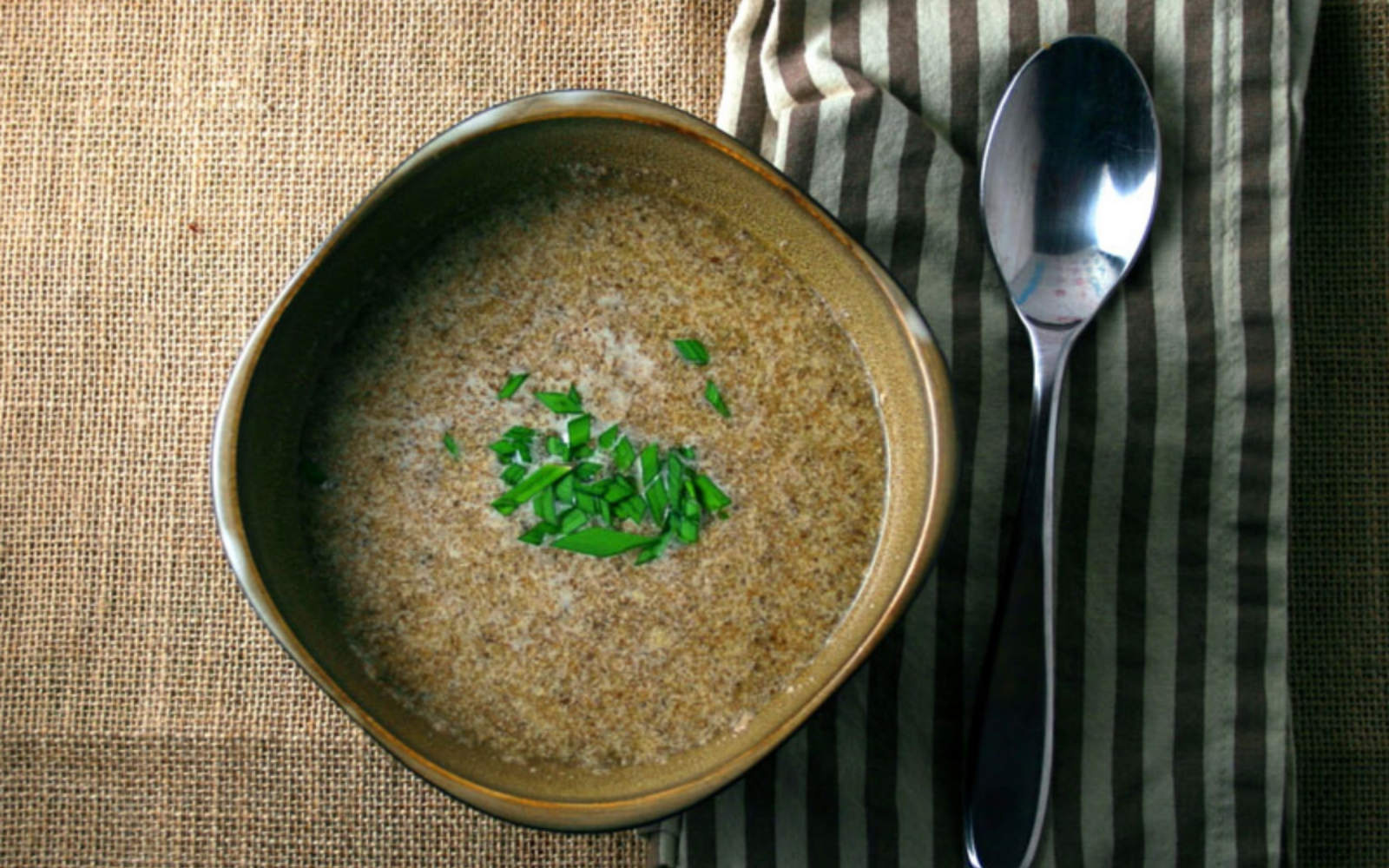 Vegan Cheesy Chia Seed Soup