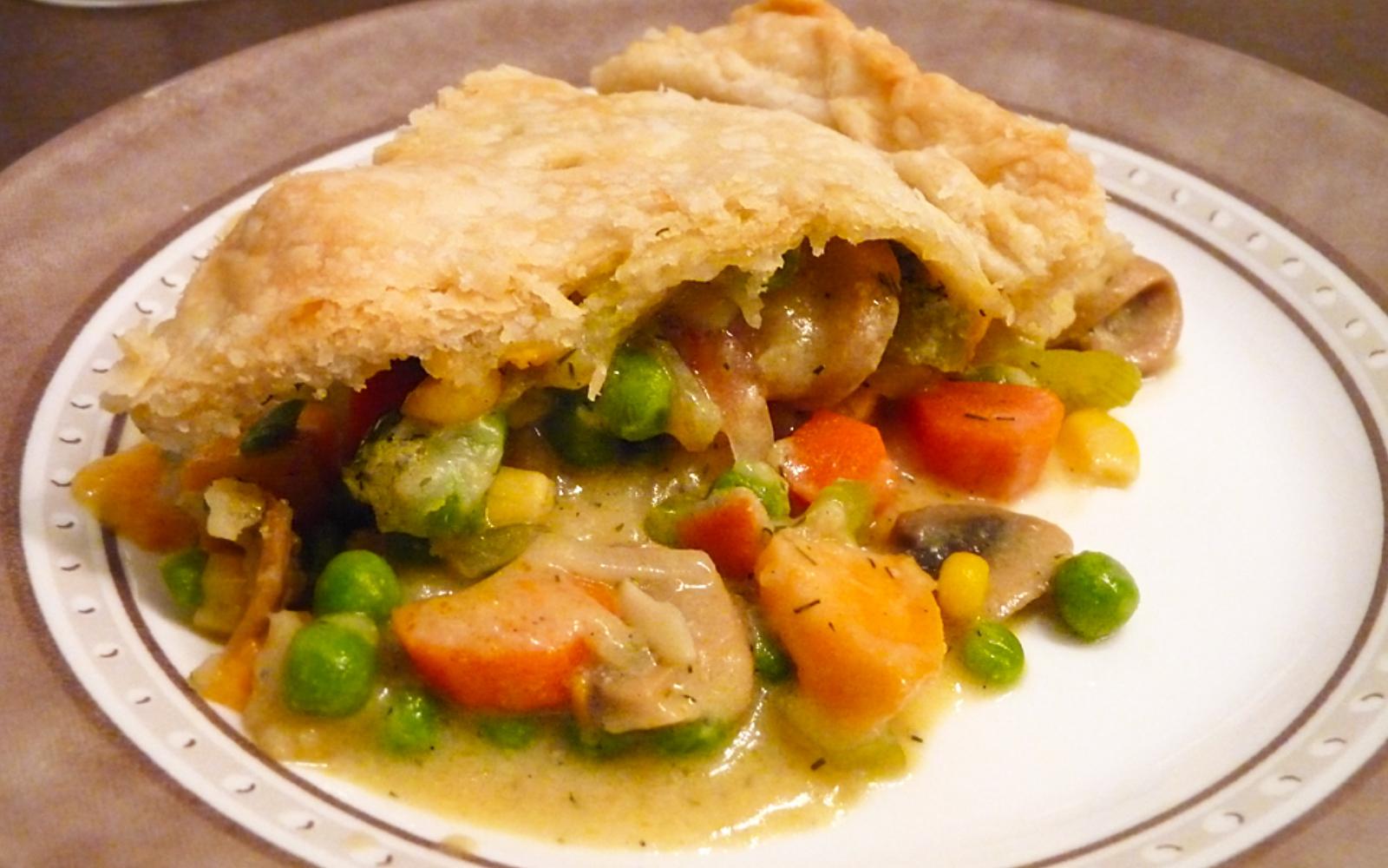 Vegan Vegetable Pot Pie With Dill Mustard Sauce