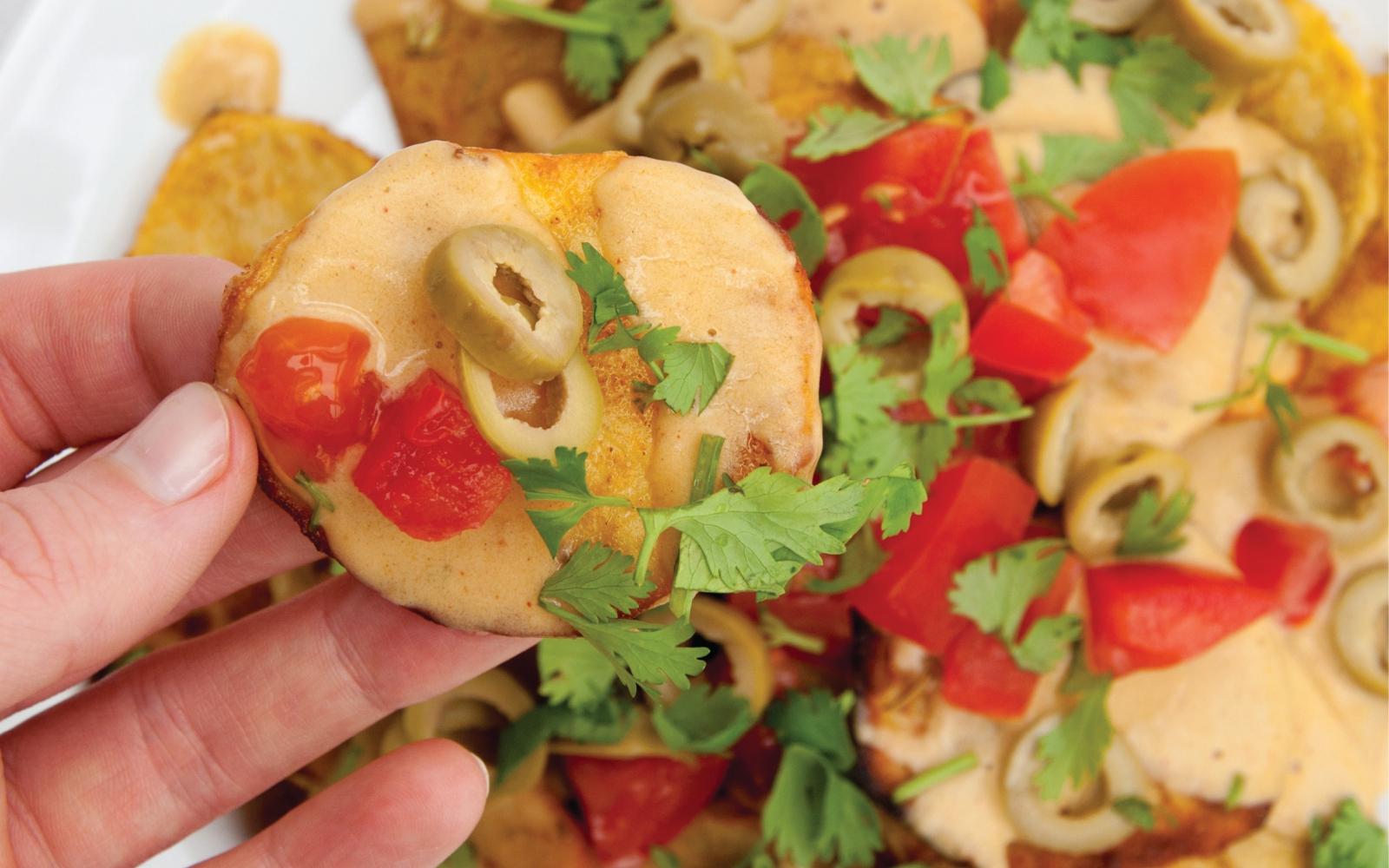 Vegan Cheesy Party Potatoes