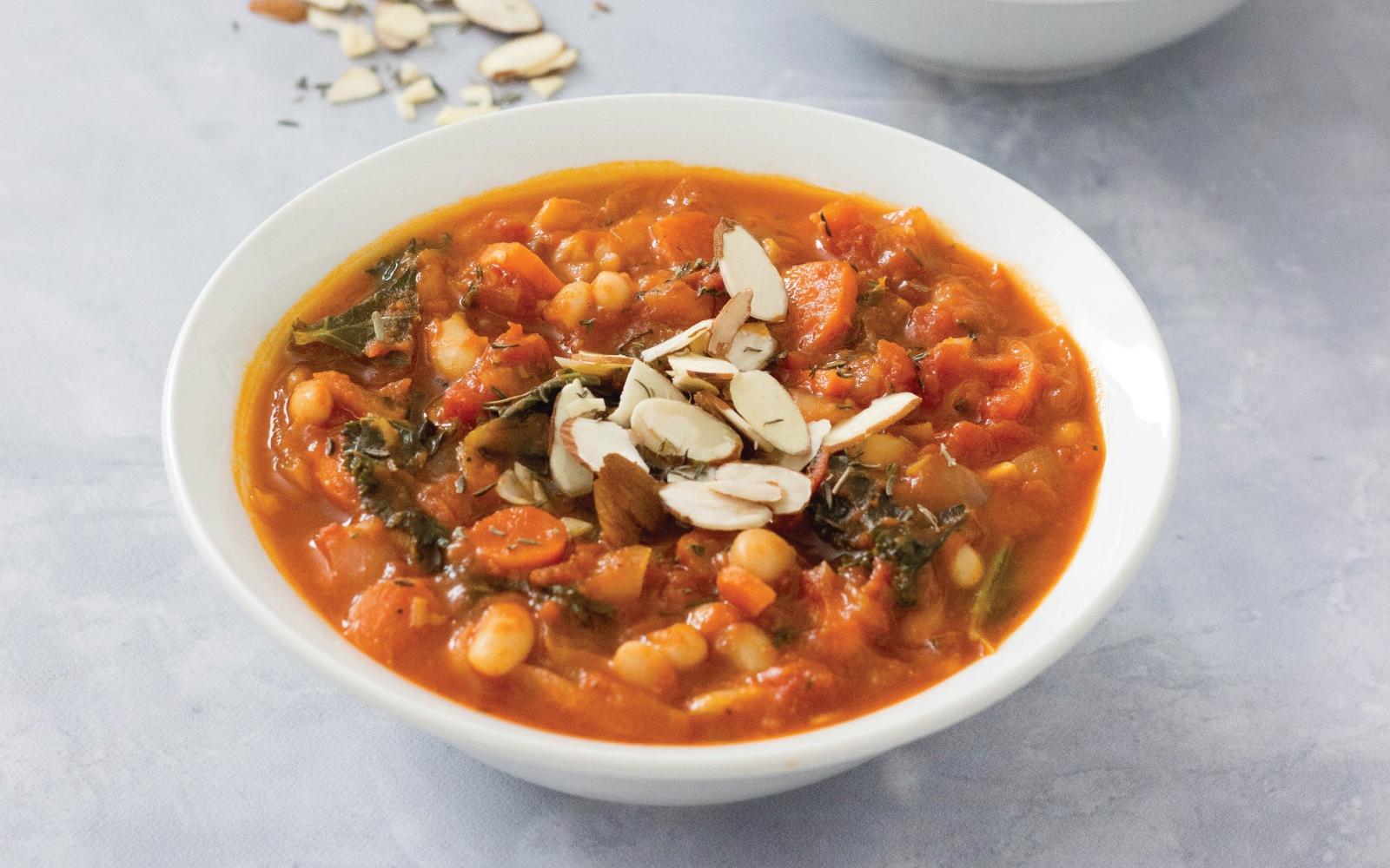 vegan white bean tomato soup