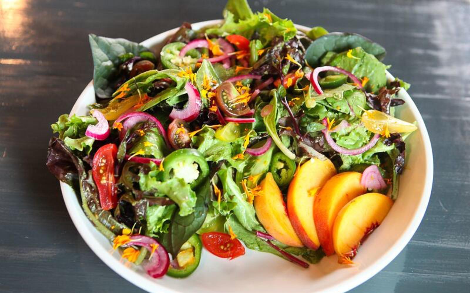 Vegan Salad with fruit