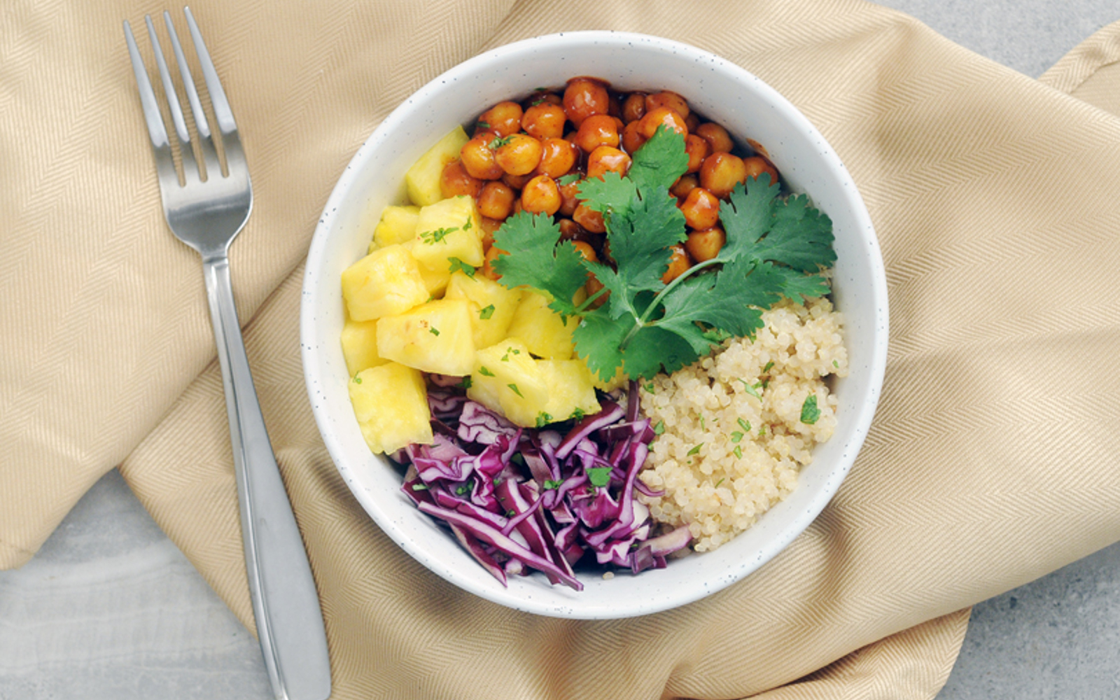 Vegan Gluten-Free Barbecue Chickpea Hawaiian Bowls