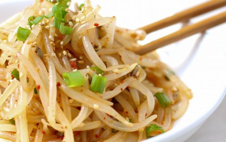 Vegan Gluten-Free Fresh Korean Bean Sprout Salad