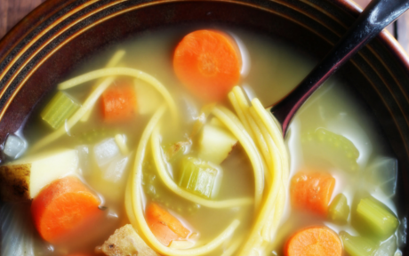 Vegan Chickenless Noodle Soup